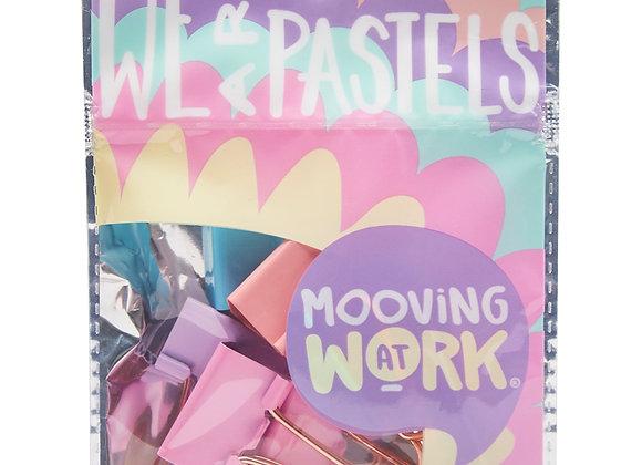 Pastel Binder Clips 25 mm 6 u. - Mooving
