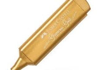 Resaltador  METALLIC GLAMOROUS GOLD - FABER - CASTELL