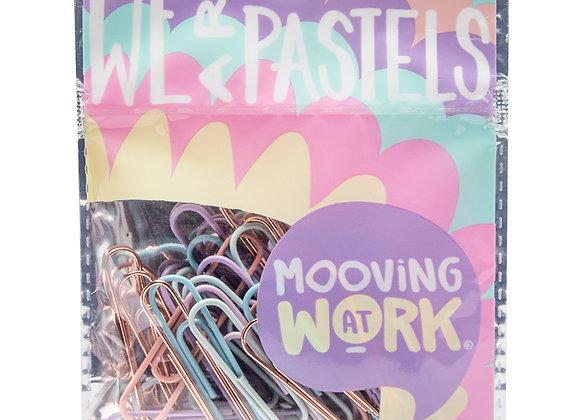Pastel Paper Clips 50 mm 25 u. - Mooving