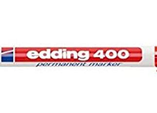 Edding 400 Marcador permanente ROJO - punta 1mm