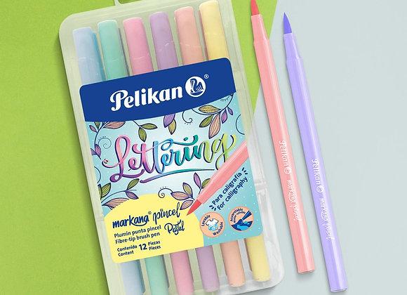 Marcador pelikan brush /   pincel pastel x 12