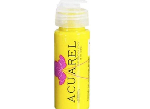 Acrilico decorativo AMARILLO  60cc - Acuarel