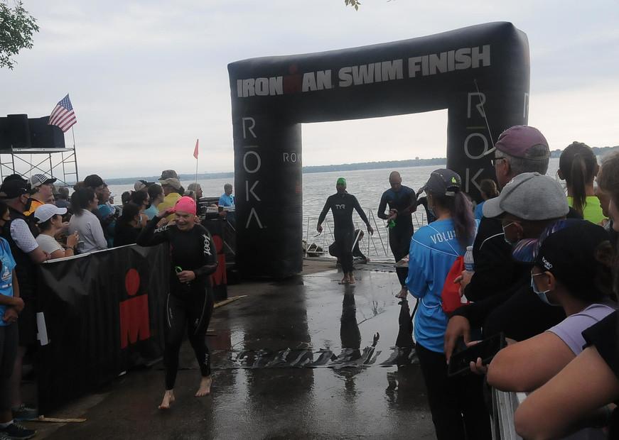 Elizabeth Model - Ironman Swim Exit