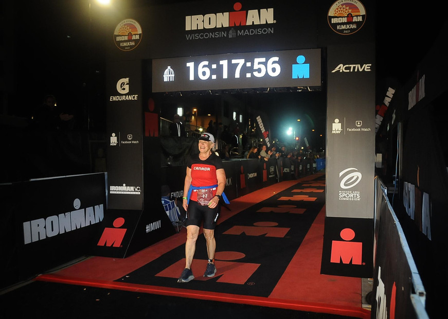 Elizabeth Model - Ironman Finish line