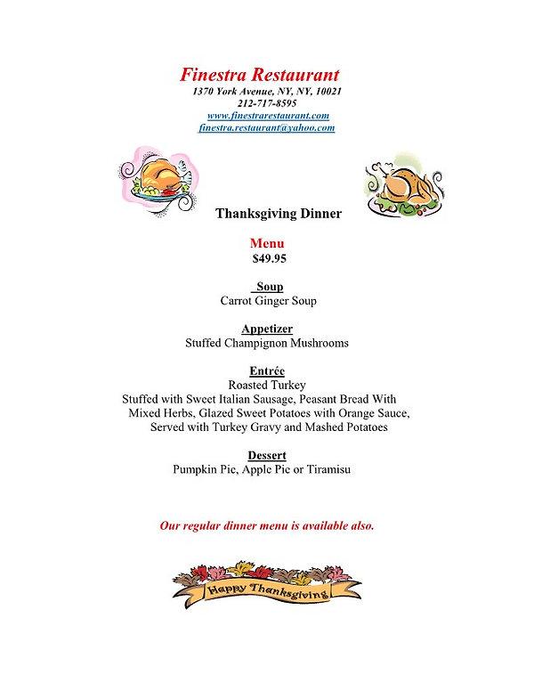 Finestra-2020 Thanksgiving Dinner Hand o