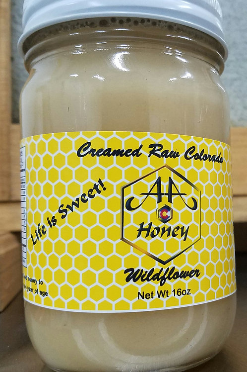 Creamed Raw Colorado Honey