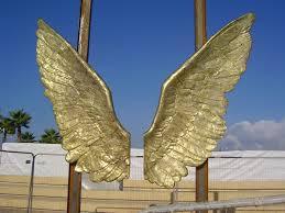 Wings statue in tel aviv port