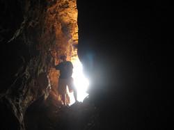 Prehistoric cave in the Carmel Mts