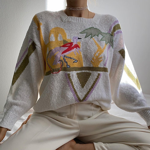 Vintage Flamingo Sweater