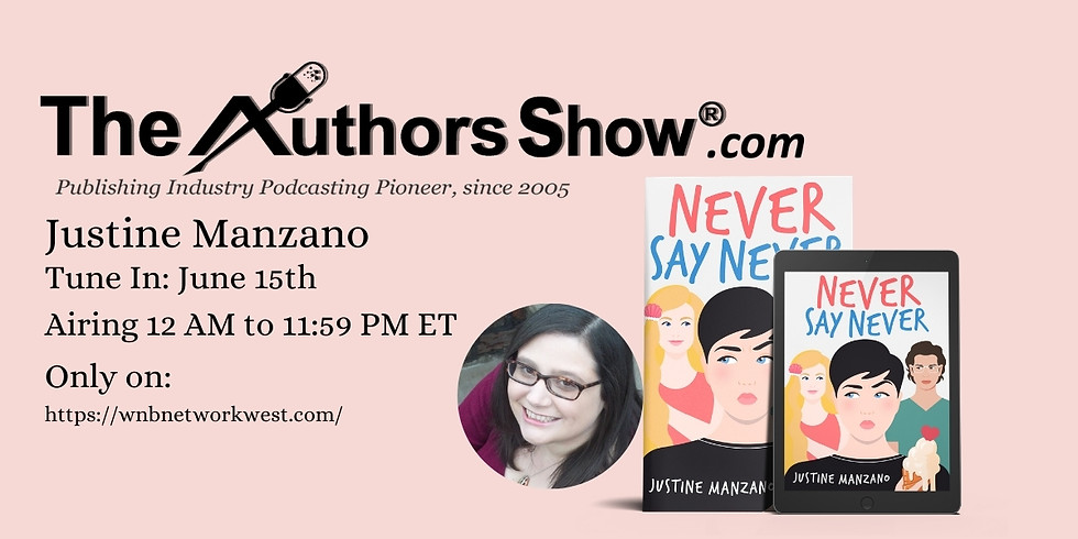 Justine Manzano on The Authors Show