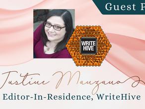 Writer Wednesday: Guest Post - Justine Manzano