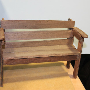 Wooden Bench (Stained)