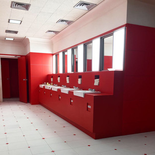"""The Shining"" Red Bathroom"