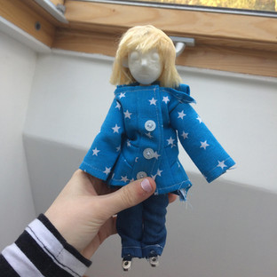Star Coat and Jeans on my Puppet