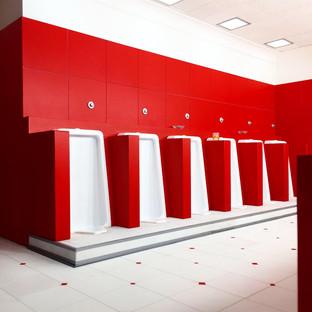 """The Shining"" Red Bathroom"