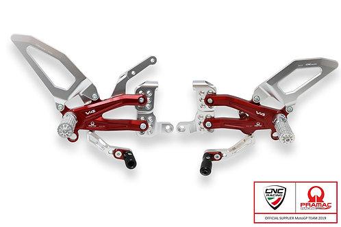 CNC Racing - Adjustable Rear Sets Pramac Fully Adjustable - Ducati V4