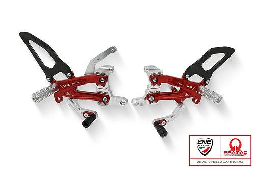 CNC Racing - Rearsets - Carbon - Pramac Racing - Ducati Streetfighter V4
