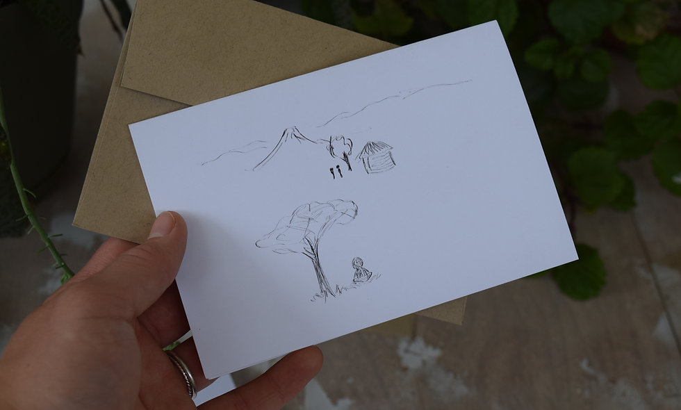 A Place to Think - Hand Sketched Card