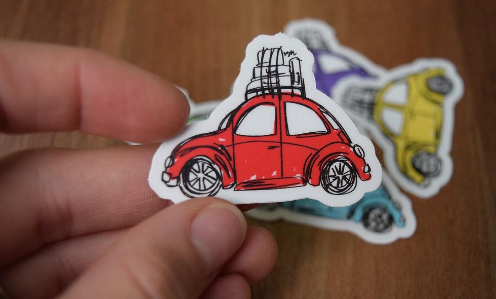 Red Slug Bug Sticker