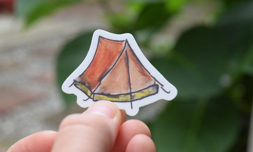 Water Color In-Tents Sticker