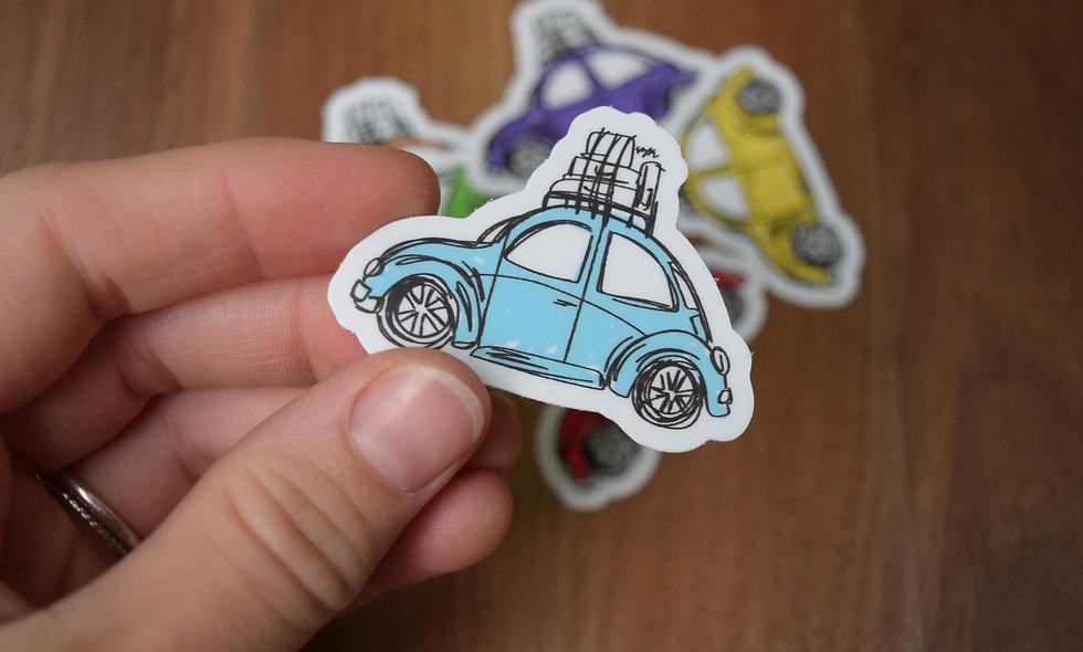 Light Blue Slug Bug Sticker