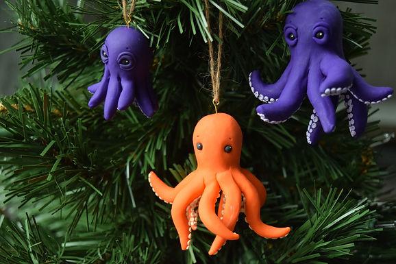 Octopi Ornaments