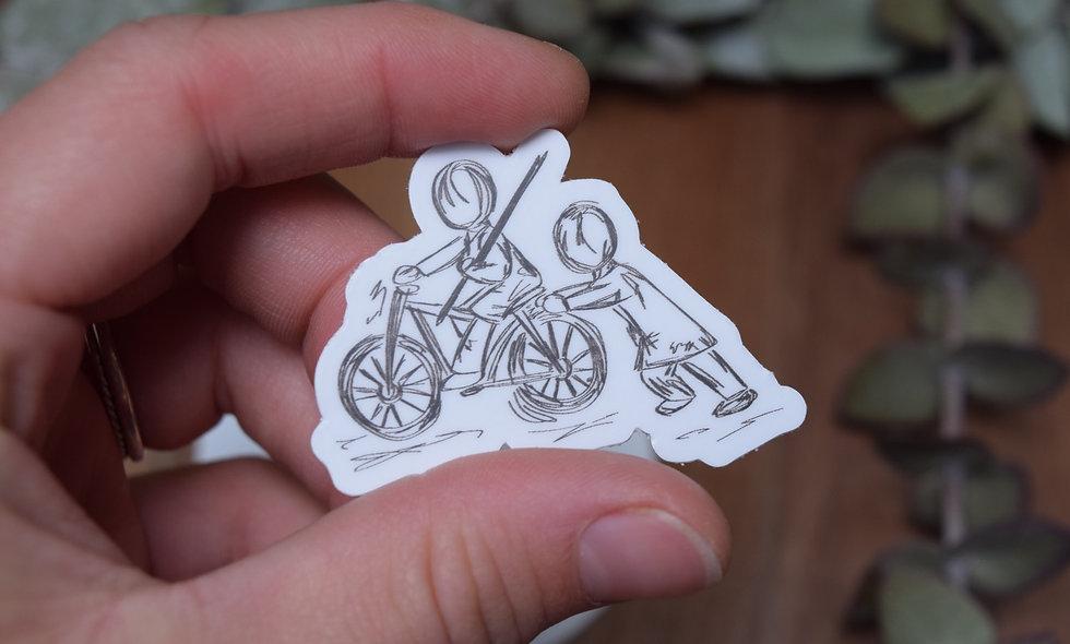 Hand Drawn Extra Push Sticker