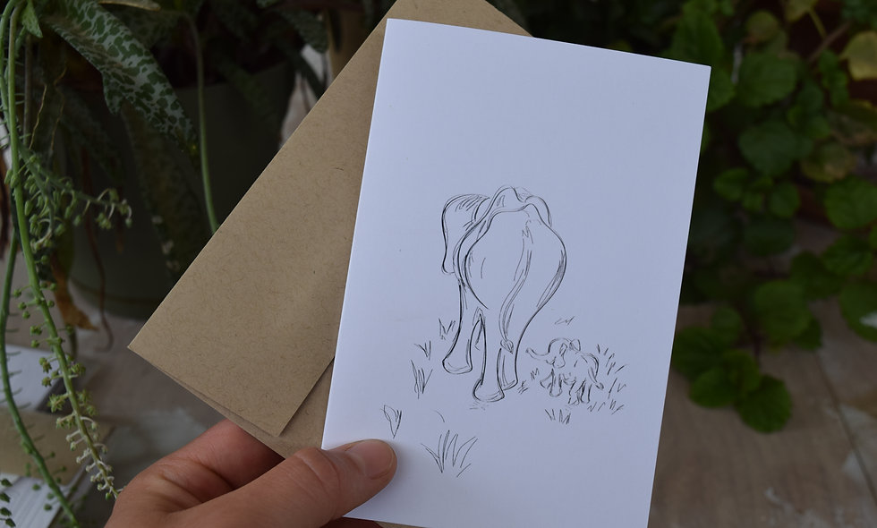 "Pack of 3 Sketches from Tanzania 6""x 4""cards"