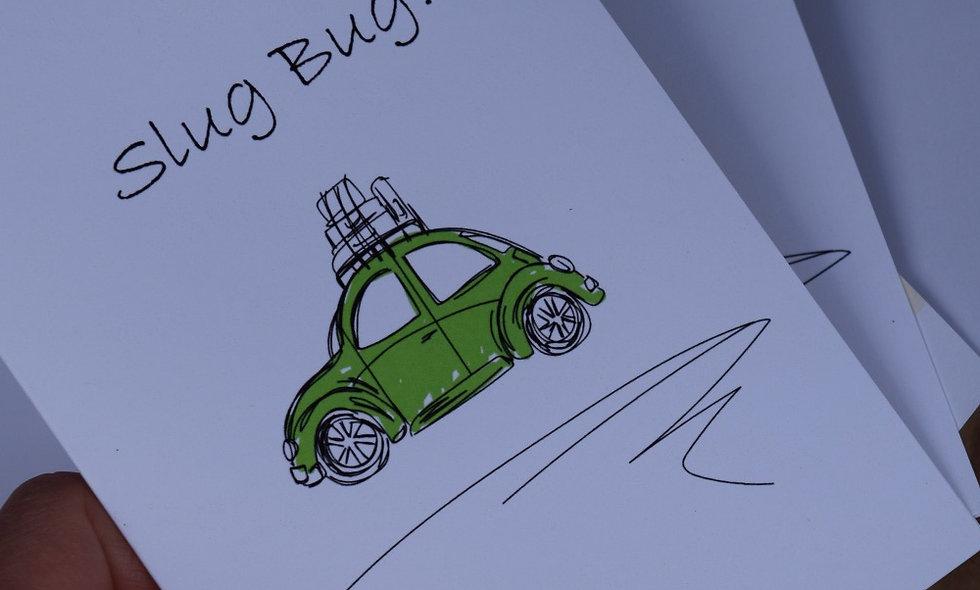 Green Slug Bug Sketch Card
