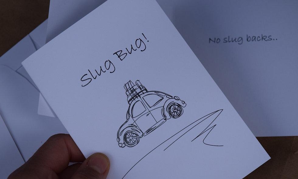 White Slug Bug Sketch Card