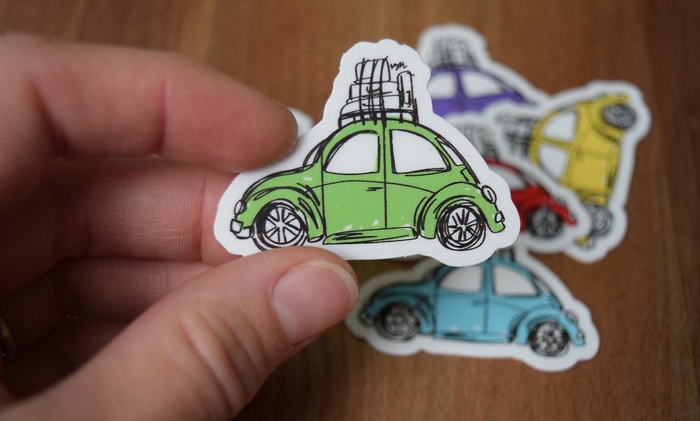 Green Slug Bug Sticker