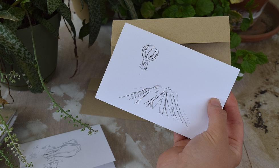 Grandma's Dream - Hand Sketched Card