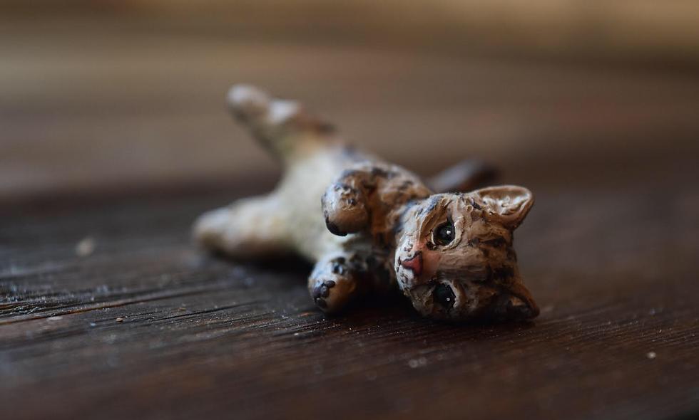 Custom One of a Kind Handmade Cat Sculpture