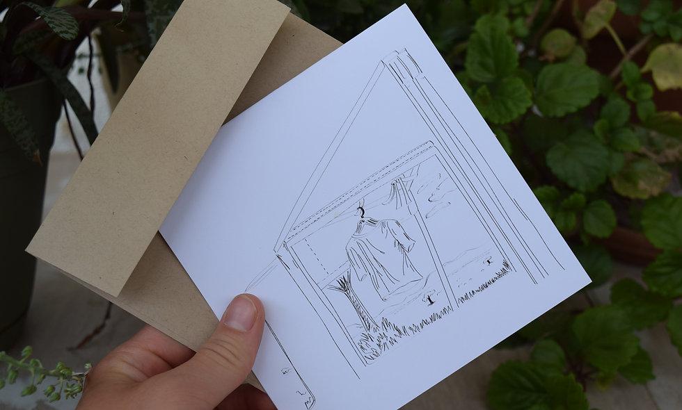 Kati Kati Camp Sketch Card