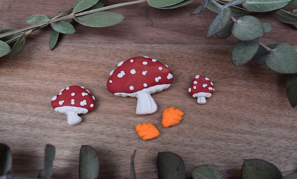 Handmade Toadstool Magnets