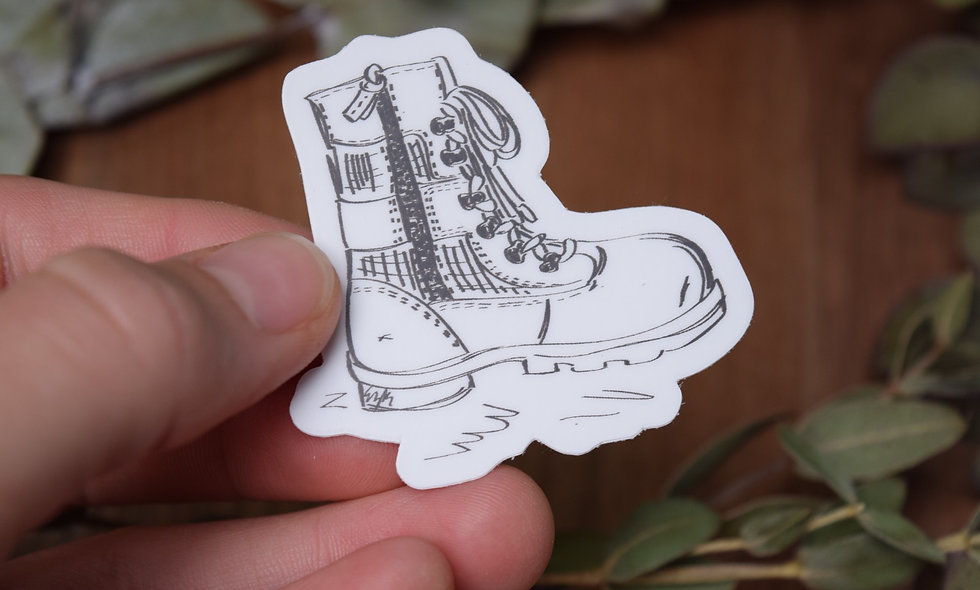 Hand Drawn How a Boot That Sticker