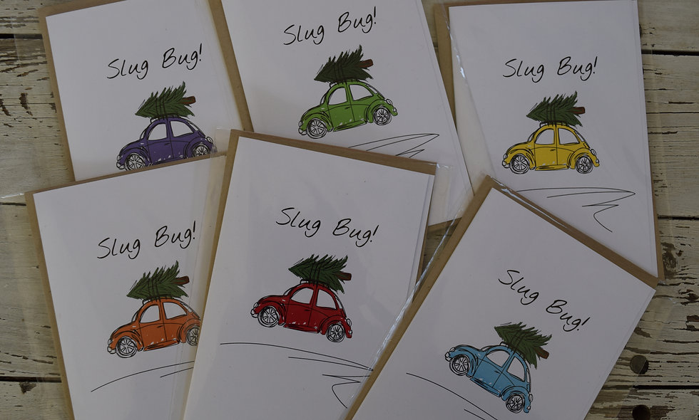Holiday Slug Bug Sketch Card Pack of 6