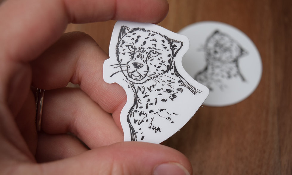 Hand Drawn Cheetah Sticker
