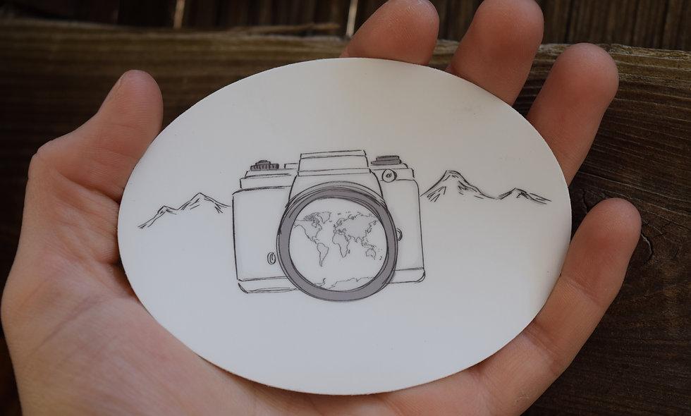 Hand Drawn Adventure Camera Sticker
