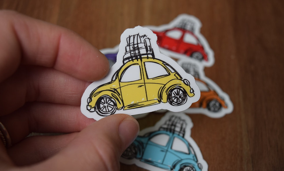 Yellow Slug Bug Sticker