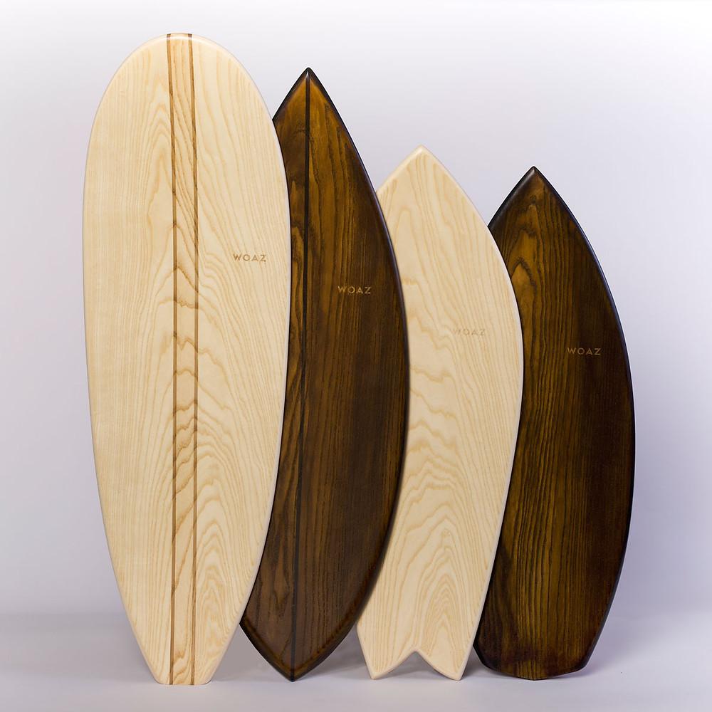 Woazbard Balance Boards in 4 unterschiedlichen Shapes