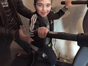 Erik Finally Got His Special Treadmill! - January 31 2016