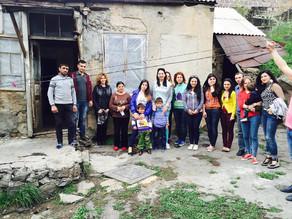 Visit to Hrazdan Family - Sponsors: Champs Students- 5.1.2016