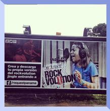 Rockvolution campaign billboard.