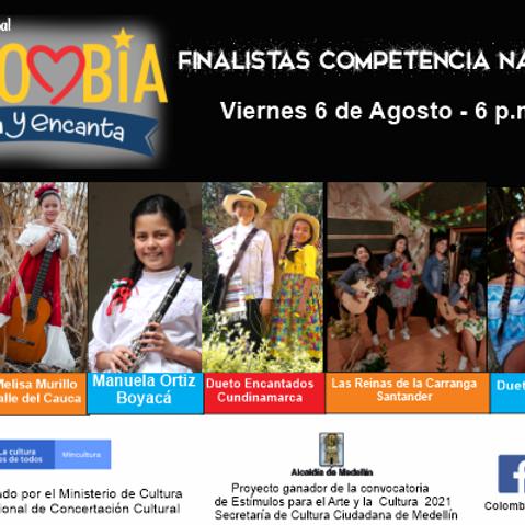 Finalistas Festival Colombia  Canta