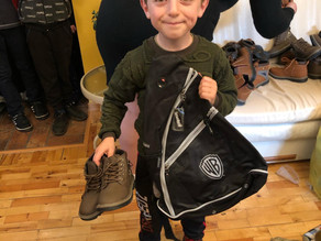 More Boots Distributed to Children in Poverty - Vanadzor-10.29.19