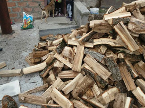 Single Mother with Two Children Received Firewood for the Whole Winter - 10/23/16