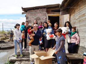 Gyumri: Luysaghbyur Village: Visit to 8 Families-9/24/16