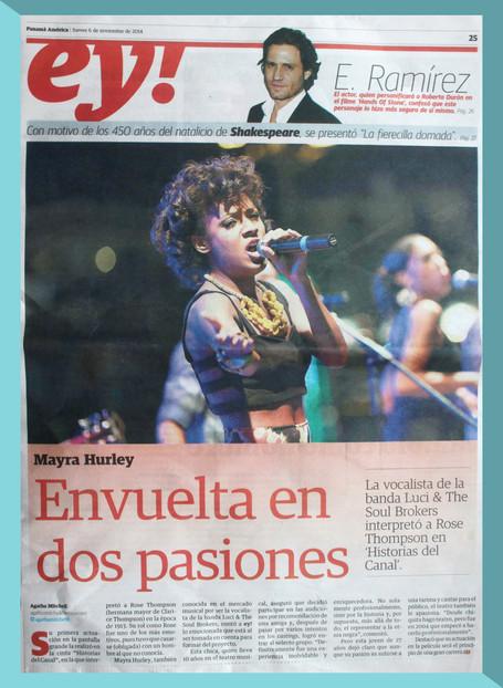 'Envuelta en dos pasiones'- El Panamá América.