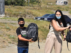 Backpacks Distributed in Lusaghbyur, Lori - 9-26-2020